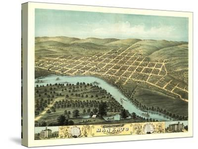 Mankato, Minnesota - Panoramic Map-Lantern Press-Stretched Canvas Print
