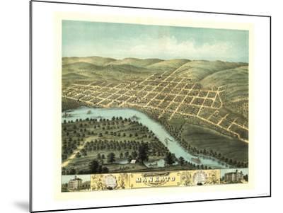 Mankato, Minnesota - Panoramic Map-Lantern Press-Mounted Art Print