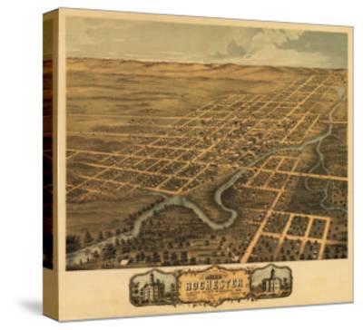 Rochester, Minnesota - Panoramic Map-Lantern Press-Stretched Canvas Print