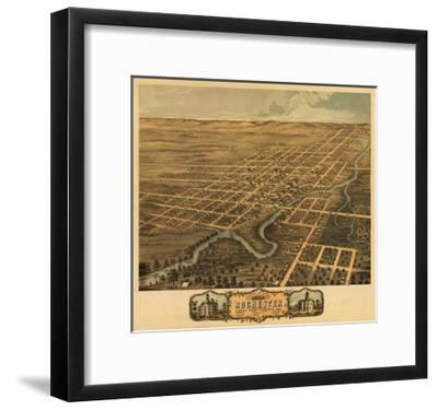 Rochester, Minnesota - Panoramic Map-Lantern Press-Framed Art Print
