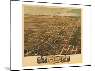 Rochester, Minnesota - Panoramic Map-Lantern Press-Mounted Art Print