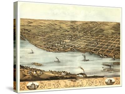 Lyons, Iowa - Panoramic Map-Lantern Press-Stretched Canvas Print