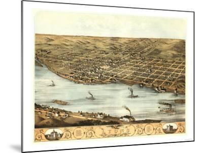 Lyons, Iowa - Panoramic Map-Lantern Press-Mounted Art Print
