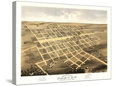 Paxton, Illinois - Panoramic Map-Lantern Press-Stretched Canvas Print