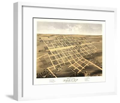 Paxton, Illinois - Panoramic Map-Lantern Press-Framed Art Print