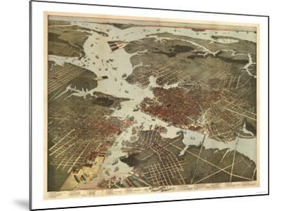 Norfolk, Virginia - Panoramic Map-Lantern Press-Mounted Art Print