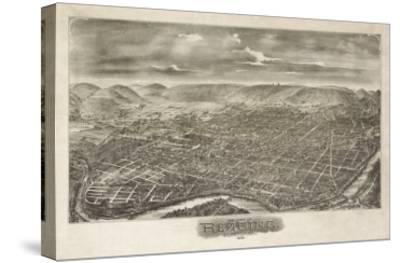 Reading, Pennsylvania - Panoramic Map-Lantern Press-Stretched Canvas Print