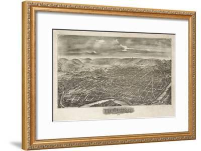 Reading, Pennsylvania - Panoramic Map-Lantern Press-Framed Art Print