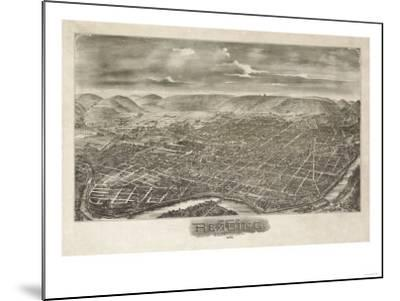 Reading, Pennsylvania - Panoramic Map-Lantern Press-Mounted Art Print