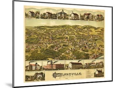 Needham Heights, Massachusetts - Panoramic Map-Lantern Press-Mounted Art Print