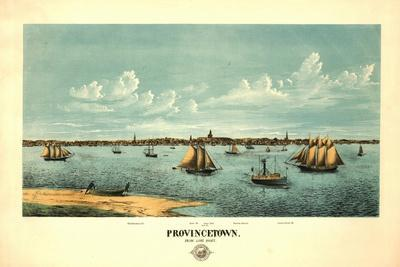 Provincetown, Massachusetts - Panoramic Map-Lantern Press-Stretched Canvas Print
