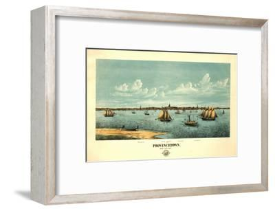 Provincetown, Massachusetts - Panoramic Map-Lantern Press-Framed Art Print
