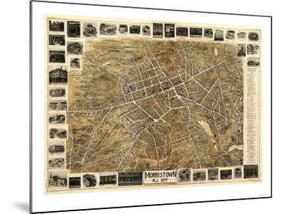 Morristown, New Jersey - Panoramic Map-Lantern Press-Mounted Art Print