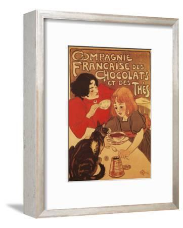 Paris, France - Chocolate and Tea Co Mother and Daughter Promo Poster-Lantern Press-Framed Art Print