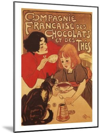 Paris, France - Chocolate and Tea Co Mother and Daughter Promo Poster-Lantern Press-Mounted Art Print