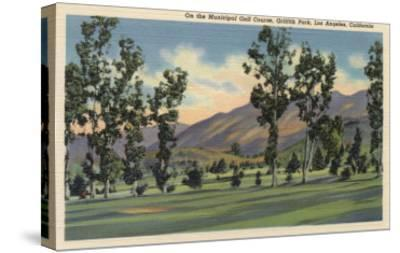Los Angeles, California - Municipal Golf Course in Griffith Park-Lantern Press-Stretched Canvas Print
