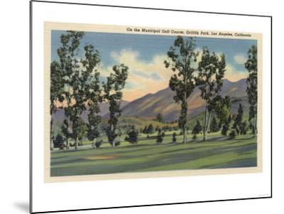 Los Angeles, California - Municipal Golf Course in Griffith Park-Lantern Press-Mounted Art Print