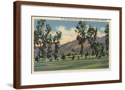 Los Angeles, California - Municipal Golf Course in Griffith Park-Lantern Press-Framed Art Print