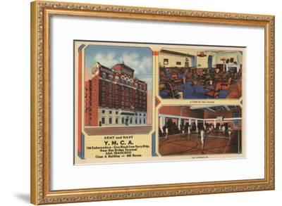 San Francisco, California - Ad for Army/Navy Y.M.C.A. Building-Lantern Press-Framed Art Print