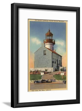 San Diego, CA - Cabrillo National Monument, Point Loma Lighthouse-Lantern Press-Framed Art Print