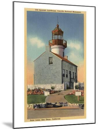 San Diego, CA - Cabrillo National Monument, Point Loma Lighthouse-Lantern Press-Mounted Art Print