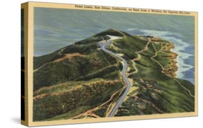 San Diego, California - Aerial View of Point Loma-Lantern Press-Stretched Canvas Print