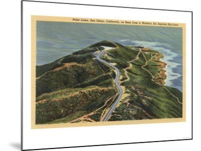 San Diego, California - Aerial View of Point Loma-Lantern Press-Mounted Art Print