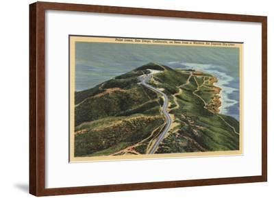 San Diego, California - Aerial View of Point Loma-Lantern Press-Framed Art Print