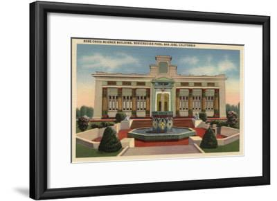 San Jose, California - Rosicrucian Park, Rose-Croix Sciene Bldg-Lantern Press-Framed Art Print
