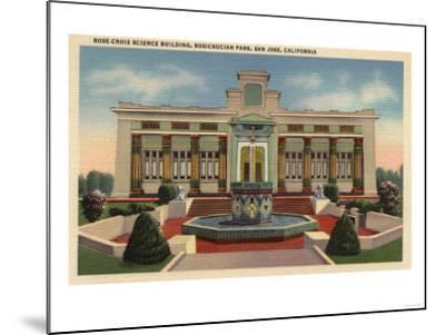 San Jose, California - Rosicrucian Park, Rose-Croix Sciene Bldg-Lantern Press-Mounted Art Print