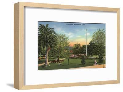 Watsonville, California - View of the Plaza-Lantern Press-Framed Art Print