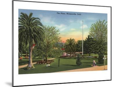 Watsonville, California - View of the Plaza-Lantern Press-Mounted Art Print