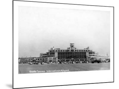 Seattle, Washington - Exterior View of Seattle-Tacoma Int'l Airport-Lantern Press-Mounted Art Print