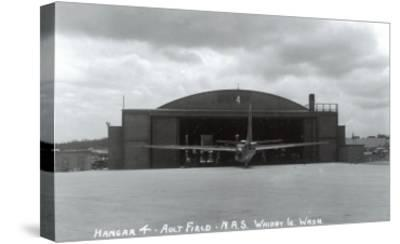 Whidbey Island, Washington - Ault Field Hangar 4 View-Lantern Press-Stretched Canvas Print