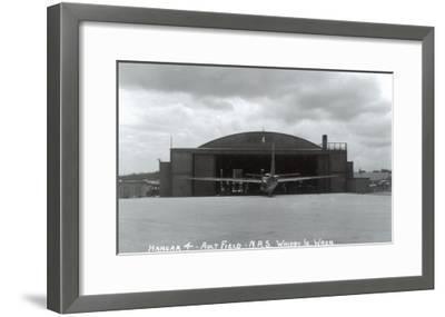 Whidbey Island, Washington - Ault Field Hangar 4 View-Lantern Press-Framed Art Print
