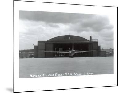 Whidbey Island, Washington - Ault Field Hangar 4 View-Lantern Press-Mounted Art Print