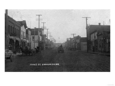 Snohomish, Washington - View of Front Street-Lantern Press-Framed Art Print