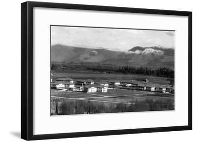 Sedro-Woolley, Washington - Aerial View of the Town-Lantern Press-Framed Art Print