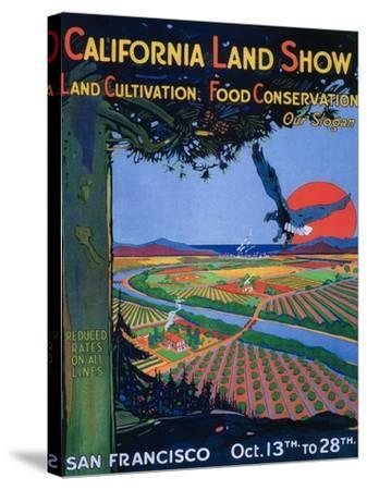 San Francisco, California - California Land Show-Lantern Press-Stretched Canvas Print