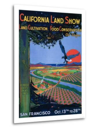 San Francisco, California - California Land Show-Lantern Press-Metal Print