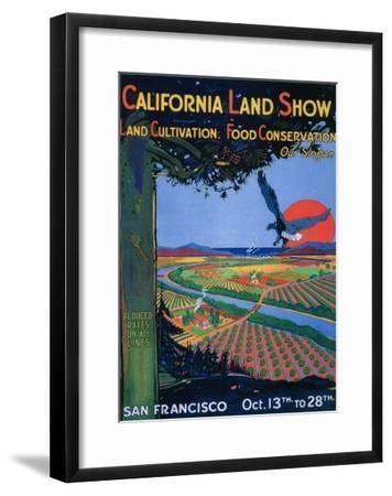 San Francisco, California - California Land Show-Lantern Press-Framed Art Print