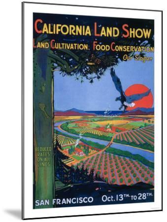 San Francisco, California - California Land Show-Lantern Press-Mounted Art Print