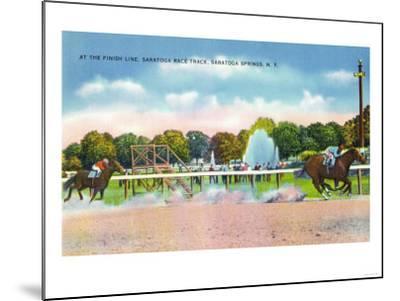 Saratoga Springs, New York - Saratoga Race Track Finish Line View-Lantern Press-Mounted Art Print