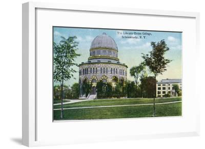Schenectady, New York - Exterior View of Union College Library-Lantern Press-Framed Art Print