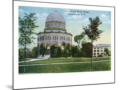 Schenectady, New York - Exterior View of Union College Library-Lantern Press-Mounted Art Print