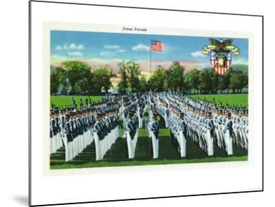 West Point, New York - Military Academy Dress Parade-Lantern Press-Mounted Art Print