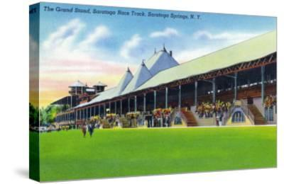Saratoga Springs, New York - Racegrounds View of the Grand Stand at Track-Lantern Press-Stretched Canvas Print