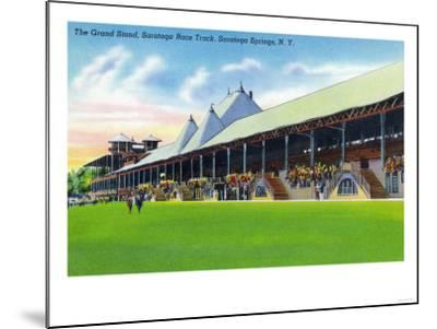 Saratoga Springs, New York - Racegrounds View of the Grand Stand at Track-Lantern Press-Mounted Art Print