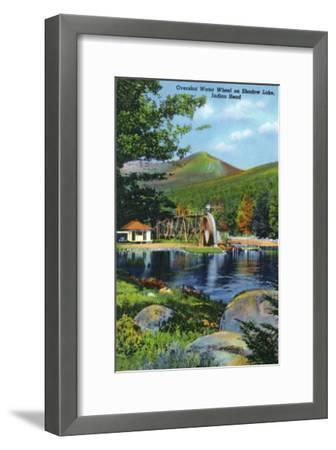 White Mountains, New Hampshire - Shadow Lake Overshot Water Wheel View-Lantern Press-Framed Art Print