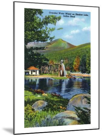 White Mountains, New Hampshire - Shadow Lake Overshot Water Wheel View-Lantern Press-Mounted Art Print